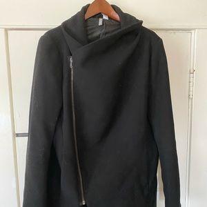 H&M Mens Divided Asymmetrical Poly-wool blend coat